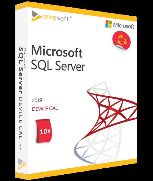 MICROSOFT SQL SERVER 2019 - 10 PACK DEVICE CAL