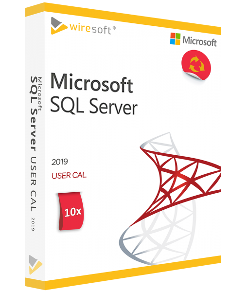 MICROSOFT SQL SERVER 2019 - 10 PACK USER CAL