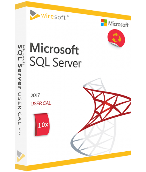 MICROSOFT SQL SERVER 2017 - 10 PACK USER CAL