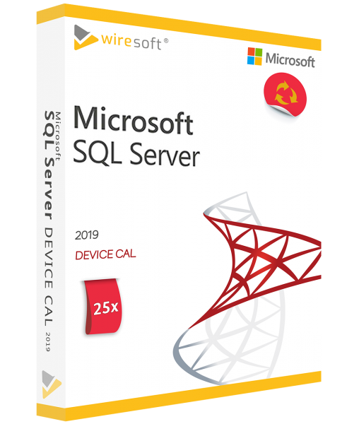 MICROSOFT SQL SERVER 2019 - 25 PACK DEVICE CAL