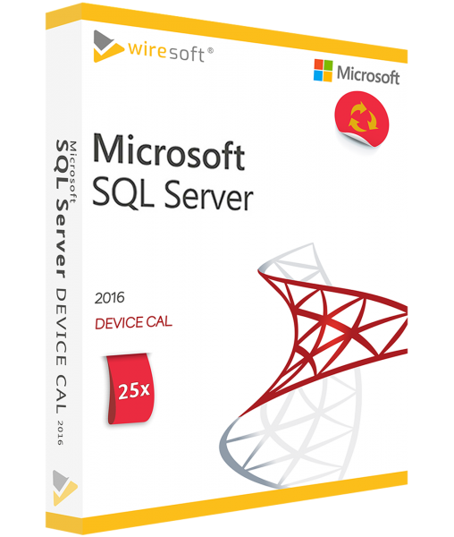 MICROSOFT SQL SERVER 2016 - 25 PACK DEVICE CAL