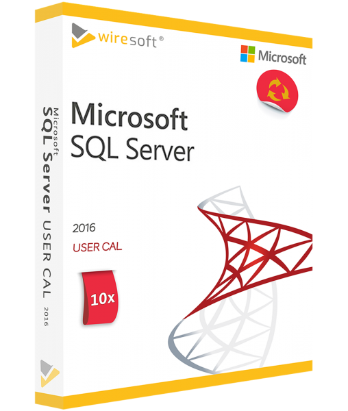 MICROSOFT SQL SERVER 2016 - 10 PACK USER CAL